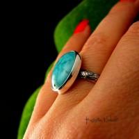 Pierścień ze Srebra - Elf z Turkusem