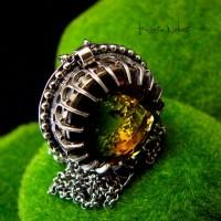Naszyjnik - Sunshine - Cytryn Bicolor Srebro