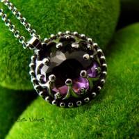 Naszyjnik Purple - Ametryn Srebro