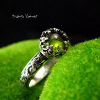 Pierścień – Toris - Zielony Turmalin Verdelit