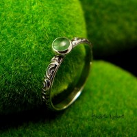 Pierścień ze Srebra - Elfik ze Szmaragdem