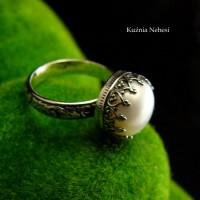 Pierścień Elf - Perła Srebro