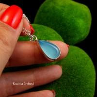 Naszyjnik Blue - Agat Brazylijski Srebro