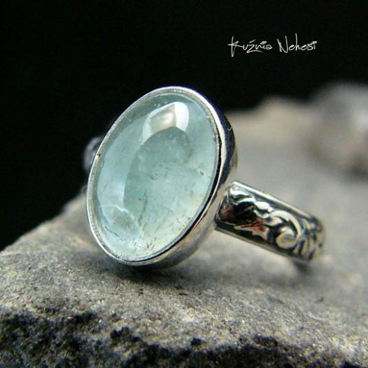 Pierścień Water - Akwamaryn Srebro