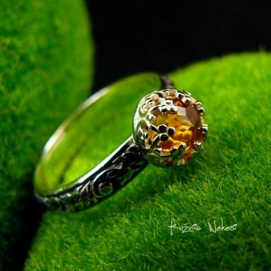 Pierścień – Sun - Słoneczny Cytryn Srebro