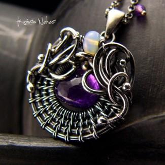 Naszyjnik Purple – Ametyst Srebro