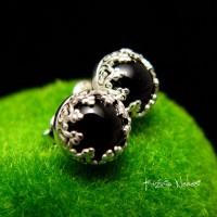 Kolczyki z Onyksami Sztyfty Lea – Onyks Srebro 10mm