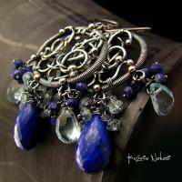 Kolczyki ELEGANT – Lapis Lazuli Topaz Srebro