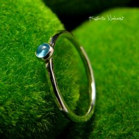 Pierścień Drobinek - Topaz Swiss Blue Srebro
