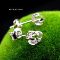 Kolczyki Sztyfty -  Diamenty Herkimer Srebro