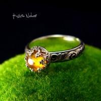 Pierścień Toris - Turmalin Słoneczny Srebro