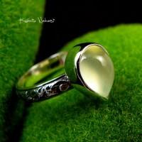 Pierścień Elf z Prehnitem Srebro