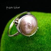 Pierścień - Perła Orientu - Srebro Perły