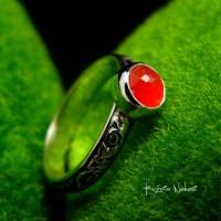 Pierścień Elf - Karneol Srebro