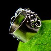 Pierścień Lúthien – Srebro Tanzanit