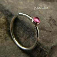 Pierścień Pink – Turmalin Srebro