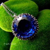 Naszyjnik Ink - Topaz London Blue Srebro