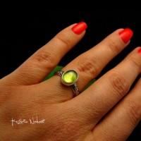 Pierścień ze Srebra - Elf z Oliwinem