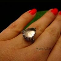 Pierścień ze Srebra - Elf z Morganitem