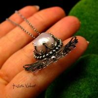 Naszyjnik - Angel - Perła Biwa Srebro