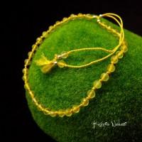 Bransoleta Silk - Srebro Spinel Jedwab