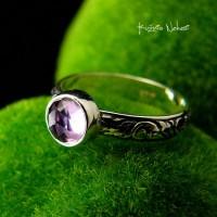 Pierścień Elf - Ametyst Srebro