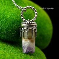 Naszyjnik Druzy Purple - Ametyst Srebro