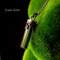 Naszyjnik  Verdelit  – Turmalin Zielony Srebro