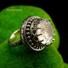 Pierścień Elf - Kryształ Górski Srebro