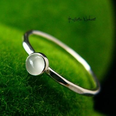 Pierścień Drobinek - Akwamaryn Srebro