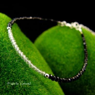 Bransoleta Black – Spinel  Topaz Srebro