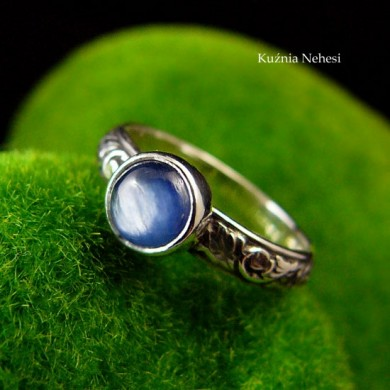 Pierścień Elf - Srebro Kyanit